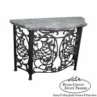 Brass Marble Top Console