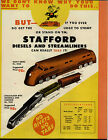 1947 PAPER AD 3 PG Toy Stafford Diesel Train Automatic Auto Speedway Flying Top