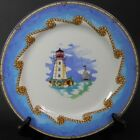 Lighthouse Shore Lights Dinner Plate by Omnibus Fitz & Floyd Coastal Seashore