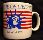 Vtg Statue Of Liberty New York Mug American Flag Red White Blue FPC England 10oz