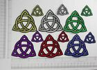 Triquetra Iron On Patch Applique Celtic Wiccan Pagan lots of sizes and colors