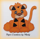 Craftecafe Mindy Jungle Zoo Tiger premade Paper piecing for scrapbook page