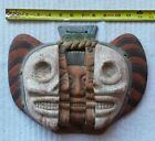 Mexico Aztec Mayan Style Mask of Life Death Rebirth Clay Art