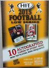 2015 SAGE Hit Football Low Series Factory Sealed Hobby Box 10 Auto's
