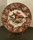 VINTAGE COLLECTOR'S PLATE WOOD AND SONS ENGLAND ALPINE WHITE IRONSTONE FOX HUNT