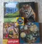 LOT of 4 Vintage Springbok 500pc jigsaw puzzles. complete.