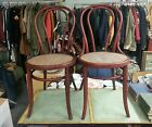 Set Of 2 HEYWOOD BROS AND WAKEFIELD Bentwood Bistro Chairs w/Caned Seats