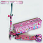 PINK 3 WHEELS W/ SIDE LIGHT & LIGHT UP WHEELS KIDS FOLDING ALUMINUM KICK SCOOTER