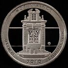 2010 S ATB Parks Quarter Hot Springs National Gem Proof DCAM CN Clad Coin