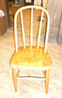 antique Plank Bottom 1800s CHILD's WINDSOR WOODEN CHAIR American Folk Art Loop