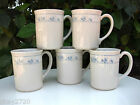 VINTAGE SET OF 5 CORNING WARE FIRST OF SPRING PATTERN COFFEE MUGS