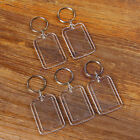 5 Creative Blank Insert Photo Picture Frame KeyChain Keyring Key Chain Gift TW