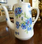 Hammersley Cornflower Blue Teapot or Coffee Pot Measures 7-1/4 Tall