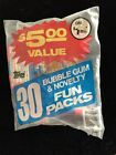 Topps Fun Packs 30 Count - I See 5 Football Dated 1982 Factory Sealed