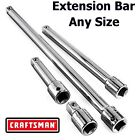 NEW Craftsman 1 4 3 8 1 2 in Drive Socket Extension Bar ANY SIZE Ratchet