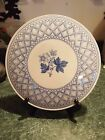 GORGEOUS VINTAGE SPODE PLATTER BLUE GERANIUM CAKE PLATE ~ MADE IN ENGLAND