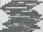 ARTIC FOG  SILVER Metal Grey Stone Mosaic Tile Backsplash Wall Bath Bar Tiles