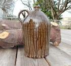 Large 1 Gal. Hand turned whiskey jug by Mike Craven with tobacco spit glaze Ga