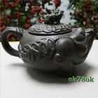 Top Grade Golden Toad Purple Clay Teapot Wealthy Ruyi Pot Large Size 370ml
