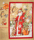 Christmas Fabric Old World Santa Claus Country Holiday CP58628 ~ Wall Panel