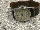 VINTAGE 1940s SS LEMANIA CH27 CHRONOGRAPH WRISTWATCH.