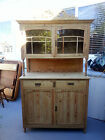 Natural Pine Antique China Hutch