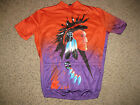 Vintage Giordana Aztec Indian Cycling Jersey Bicycle Bike Cycle L 4 50 Running
