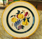 STANGL Pottery Terra Rose Line FRUIT One Round Chop Plate  One Divided Bowl