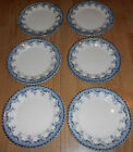 LOT of 6 Antique FRENCH DINNER PLATES SALINS, MARKED