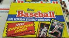 1988 Topps Baseball Stickers Box and 2 Albums