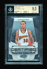 1 1 BGS 9.5 STEPHEN CURRY 2009-10 PANINI CERTIFIED POTENTIAL RC JERSEY #D 30 500