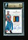 1 1 BGS 9.5 ANTHONY DAVIS 2012-13 IMMACULATE PATCH RED AUTO JERSEY #D 23 25 RC