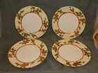 Set of 4 Fitz and Floyd Christmas Holly Dinner Plates in Original Box