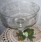 ETCHED GLASS PEDESTAL COMPOTE WHEAT DESIGN 1960 'S FRUIT BOWL