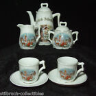 ANTIQUE VINTAGE CHILDS DISHES TEA SET CHRISTMAS TREE SANTA RENDEER ANGEL GERMANY