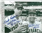 Signed 8x10 MILT PAPPAS O's & JUAN MARICHAL HOF San Francisco Giants photo COA