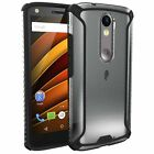 Poetic Affinity Premium Thin Protective Case for Moto Droid Turbo 2 Black Clear