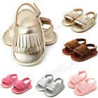 Girl Kid Baby Tassel Sandals Shoes Toddler Princess Leather First Walkers Shoes