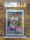 2010 BOWMAN CHROME PROSPECTS REFRACTOR ANTHONY RIZZO RC BGS 10 AUTO