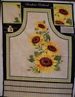 Sunflower Apron Panel Sunshine Orchard 100 Cotton Fabric