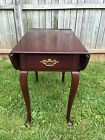 STATTON TruType Americana Solid Cherry Drop Leaf Pembroke End Table