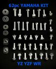 62pc BOLT KIT FOR PLASTICS YAMAHA YZ/YZF/WR  80 85 125 250 250F 400 450 450F