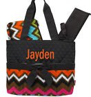 Personalized Multi Chevron Brown Quilted 3Pcs Set Diaper Bag MONOGRAM Embroidery