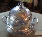 1865-1898 WILLIAM ROGERS MFG. CO. QUAD SILVER BUTTER DISH WITH BEAUTIFUL ETCHING
