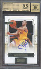 BGS 9.5 2009-10 PANINI CLASSICS STEPHEN CURRY AUTOGRAPH RC 499 AUTO ON CARD INK