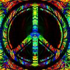 Peace Sign in outdoor Vinyl Bumper Sticker Decal 25 Hippie Rock n Roll