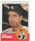 2012 Topps Heritage Real One Autograph Dean Stone Chicago White Sox 30 63