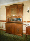 Antique American Quartersawn Tiger? Oak China Cabinet Buffet