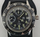 Vintage Rare Ollech Wajs Military M-75 Swiss Chronograph Valjoux Cal. 7765