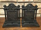 HUBBARD CAST IRON BOOKENDS LONGFELLOW POET